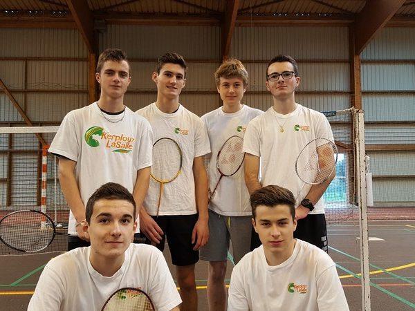 Champion du Morbihan de Badminton en double garçons