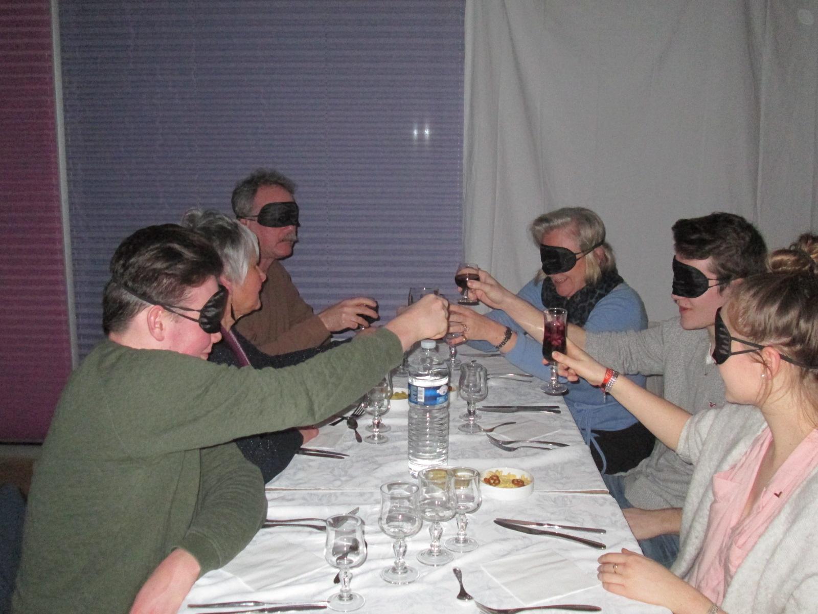 Se mettre dans la peau d'une personne aveugle le temps d'un diner