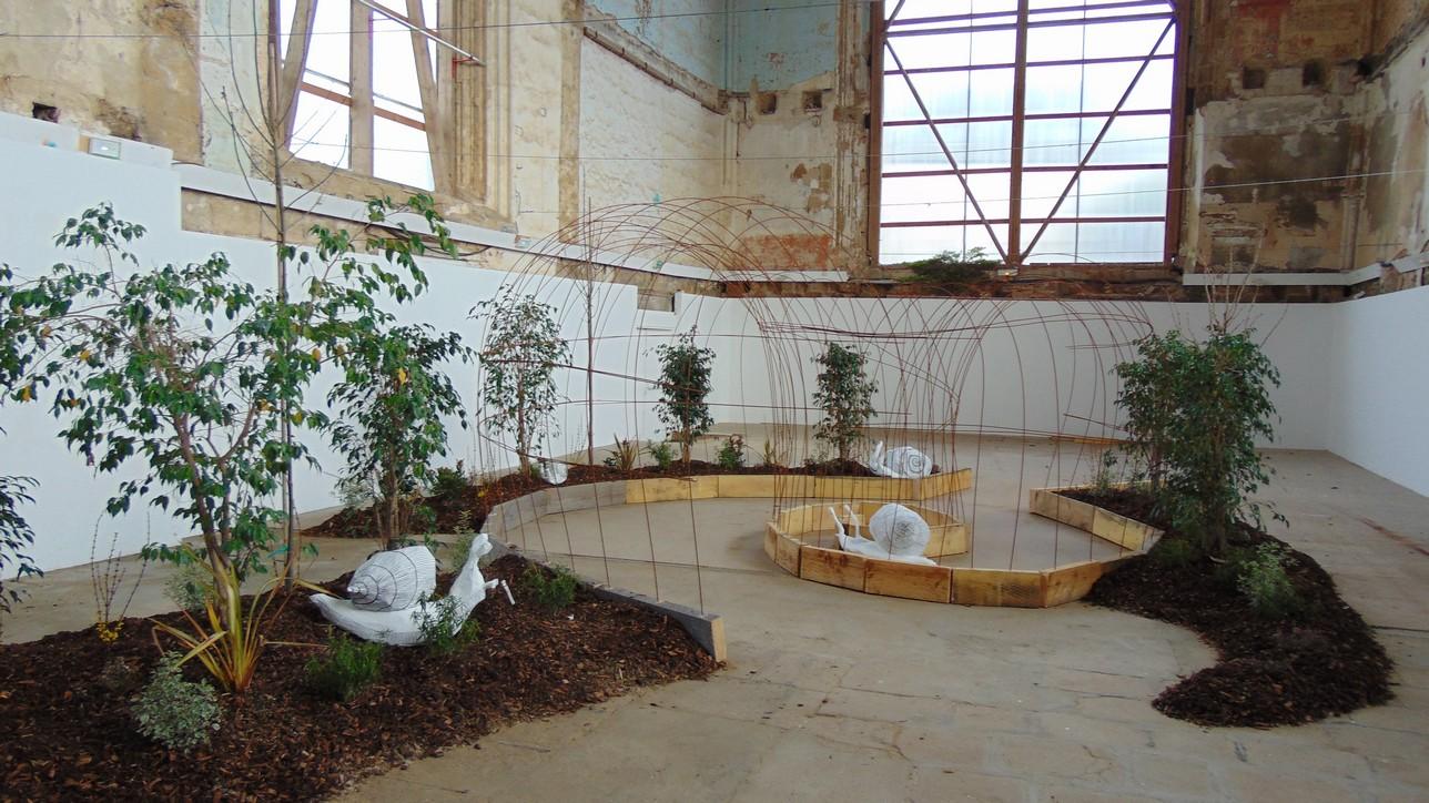 Installation paysagère réalisée par les Term Bac Pro AP pour le festival Méliscène