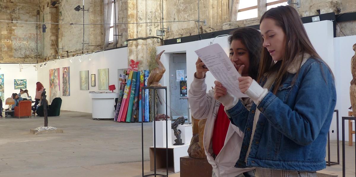 Les 2nde Sapat à la découverte des artistes locaux