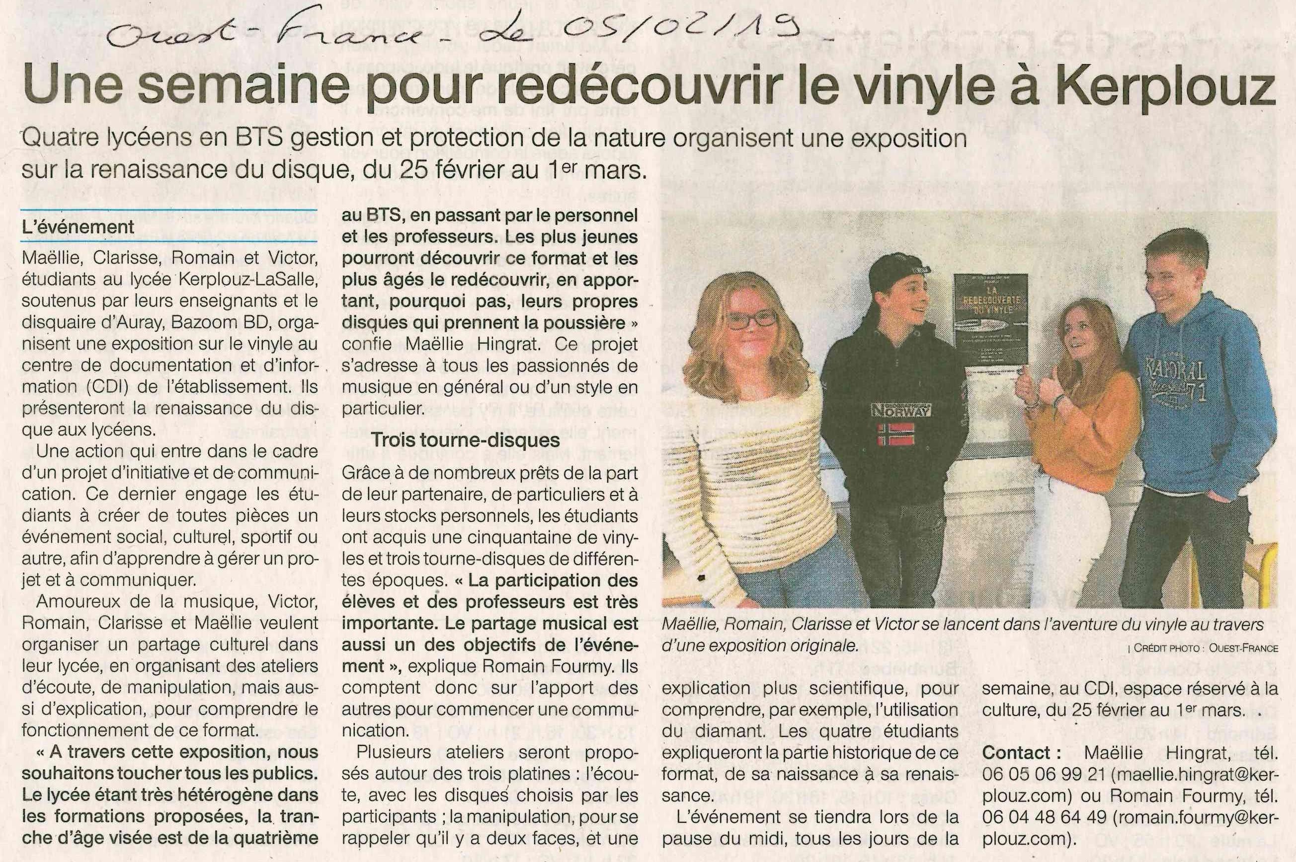 Une semaine pour redécouvrir le vinyle à Kerplouz