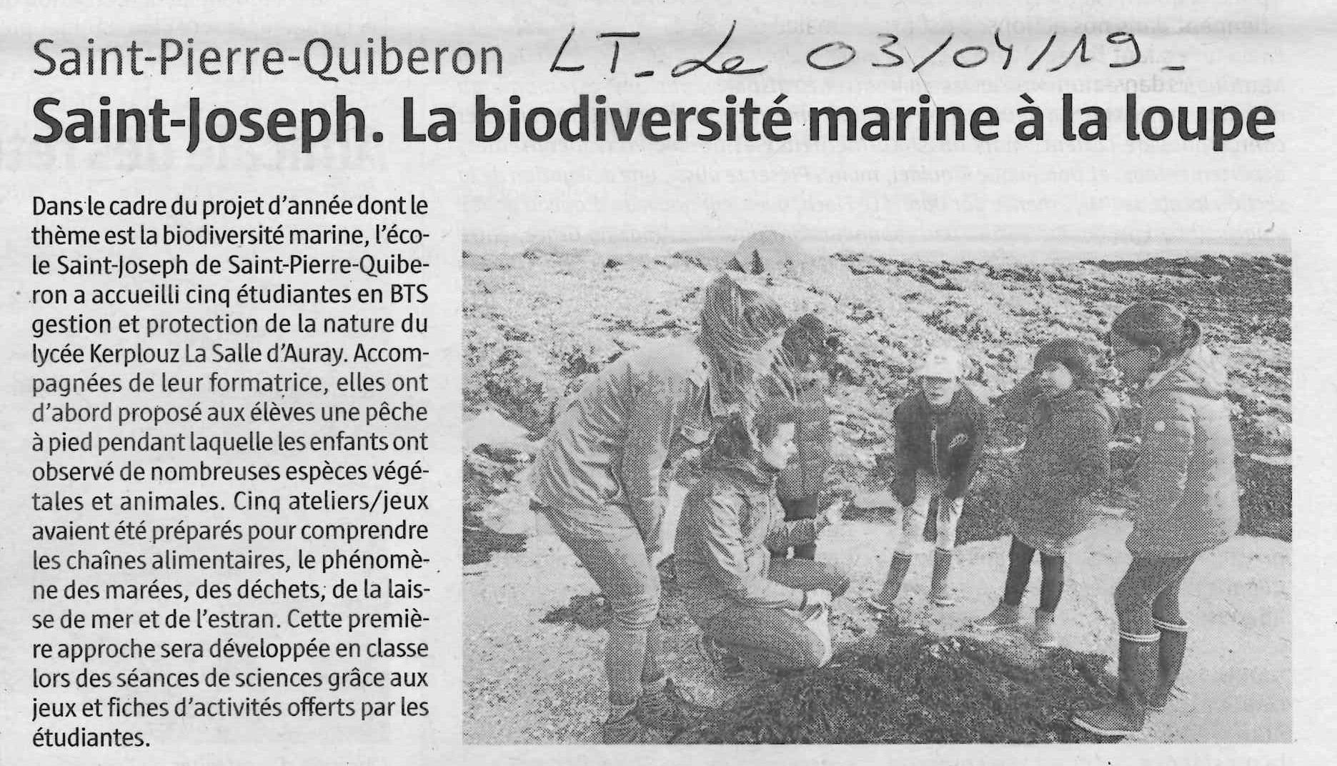 Saint-Joseph. La biodiversité marine à la loupe