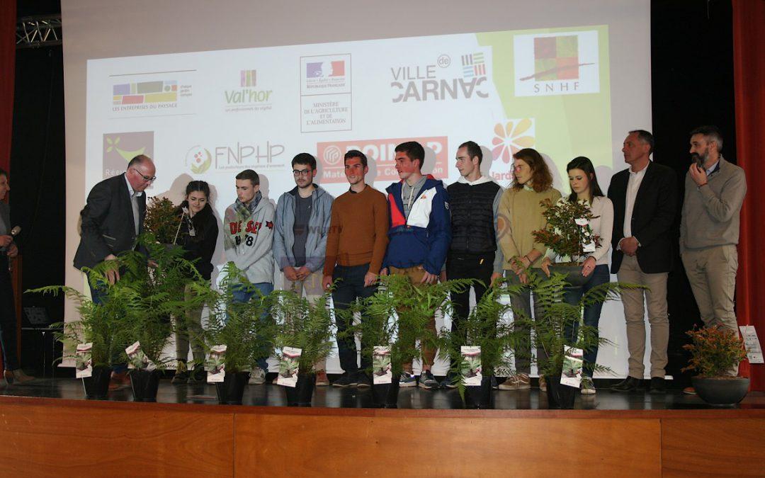 Concours Régional de reconnaissance des végétaux 2019 au Lycée Kerplouz Lasalle Auray et des lauréats de Kerplouz pour la finale à Lyon en décembre.