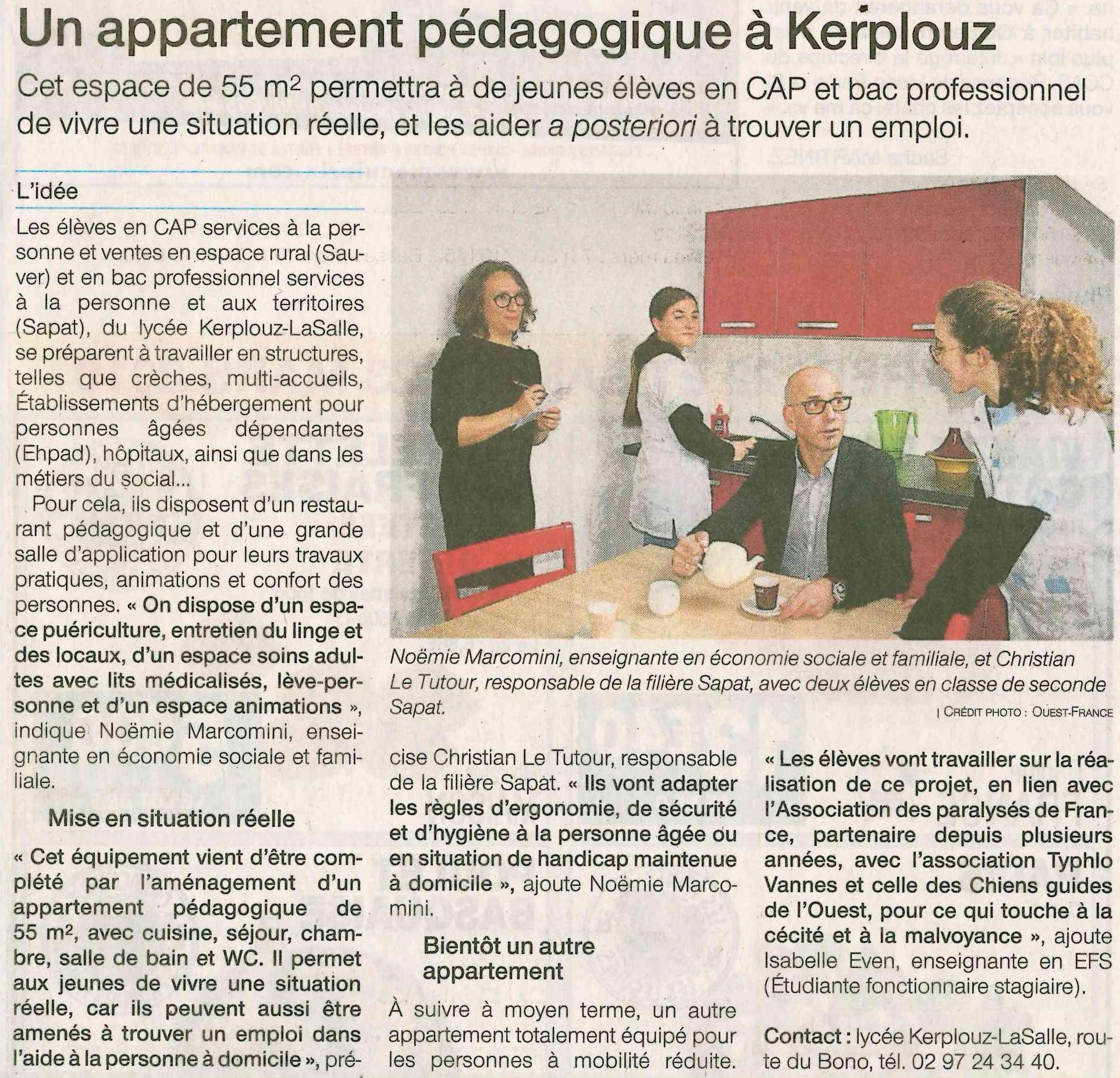 Un appartement pédagogique à Kerplouz