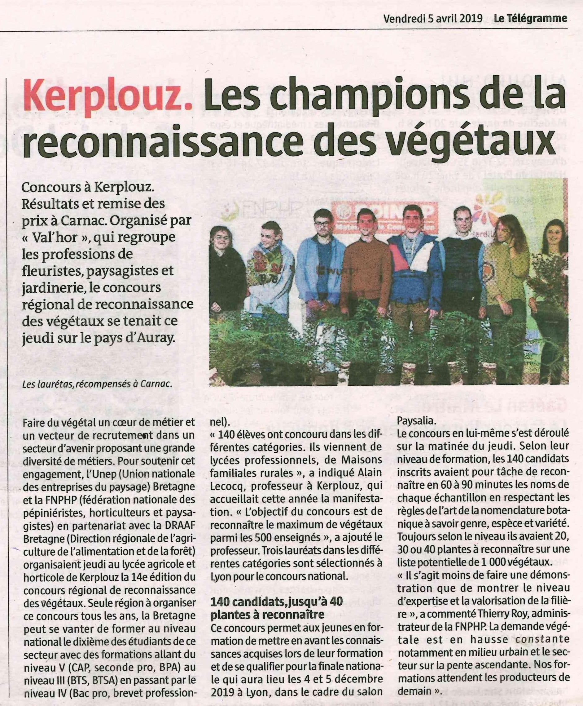 Les champions de la reconnaissance des végétaux