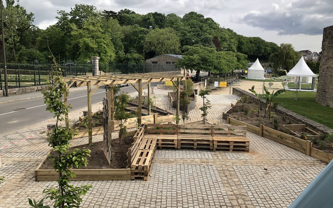 Nouvelle participation des BTS Aménagements Paysagers à la 5ème édition des jardins éphémères de Vannes