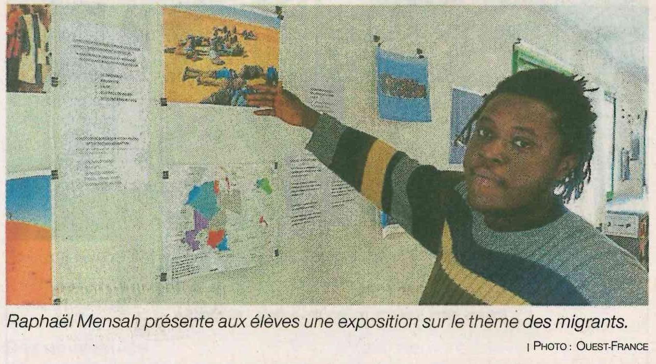 Ce ghanéen est en service civique au lycée Kerplouz