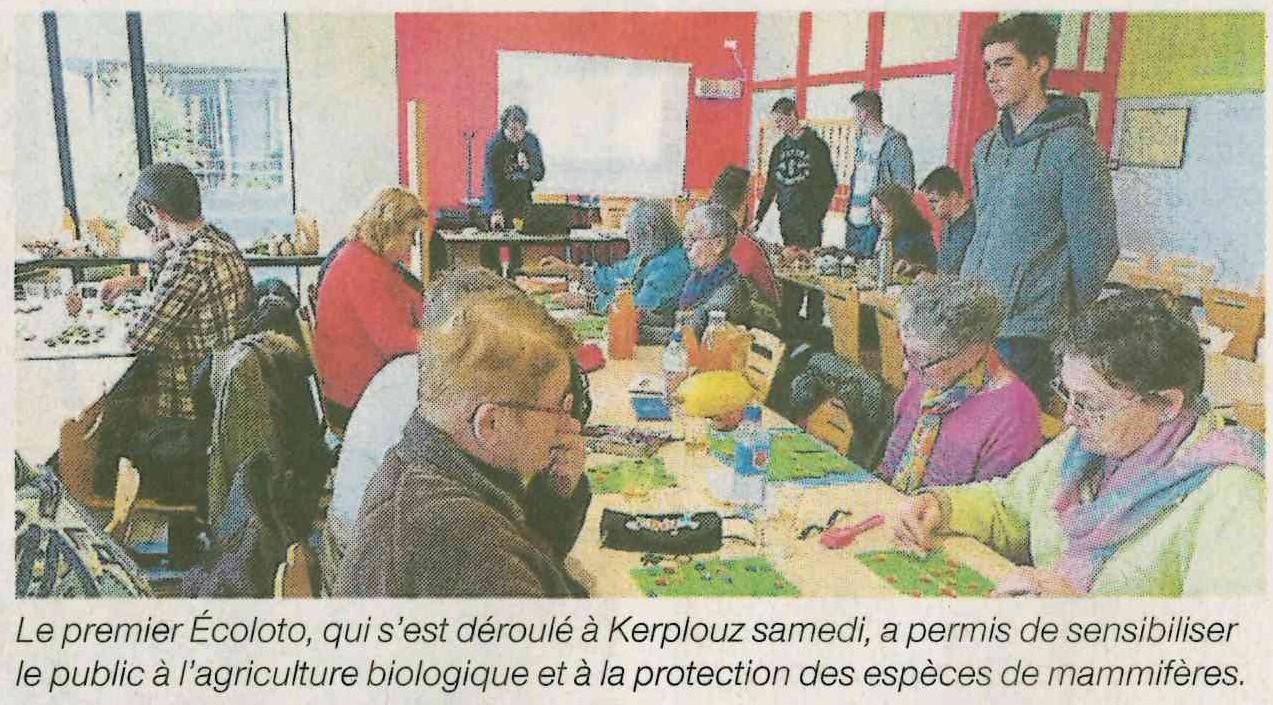 L'Ecoloto a permis de collecter 200 euros