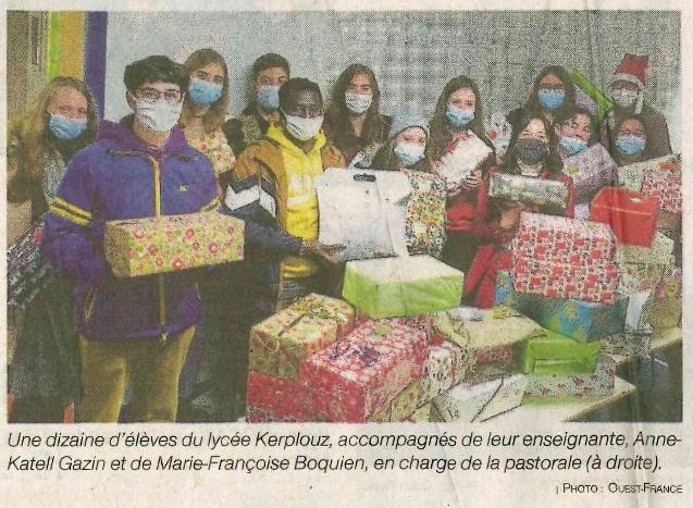 Plus de 500 boîtes de Noël pour les plus démunis