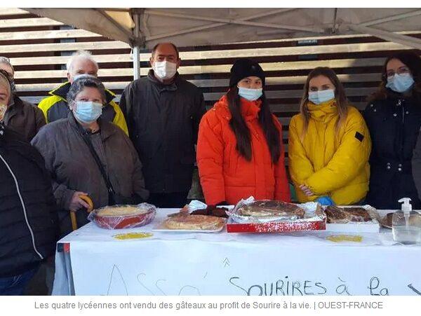 Carnac. Une vente de gâteaux au profit de Sourires à la vie