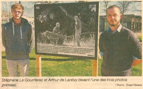 Trois étudiants à la tête de l'expo «Défends ta ruralité» (2 articles Le Télégramme + 1 article Ouest-France)