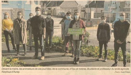 Alternatives aux pesticides : des BTS d'Auray collaborent avec la Ville (1 article Ouest-France + 1 article Le Télégramme)
