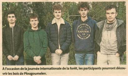 Des étudiants proposent de découvrir les bois de Plougoumelen