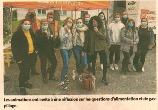 Les lycéens de Kerplouz participent à une action de solidarité