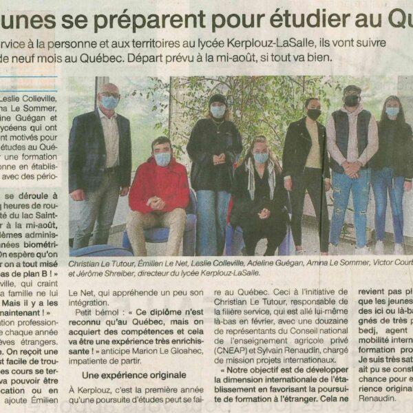 Sept jeunes se préparent pour étudier au Québec