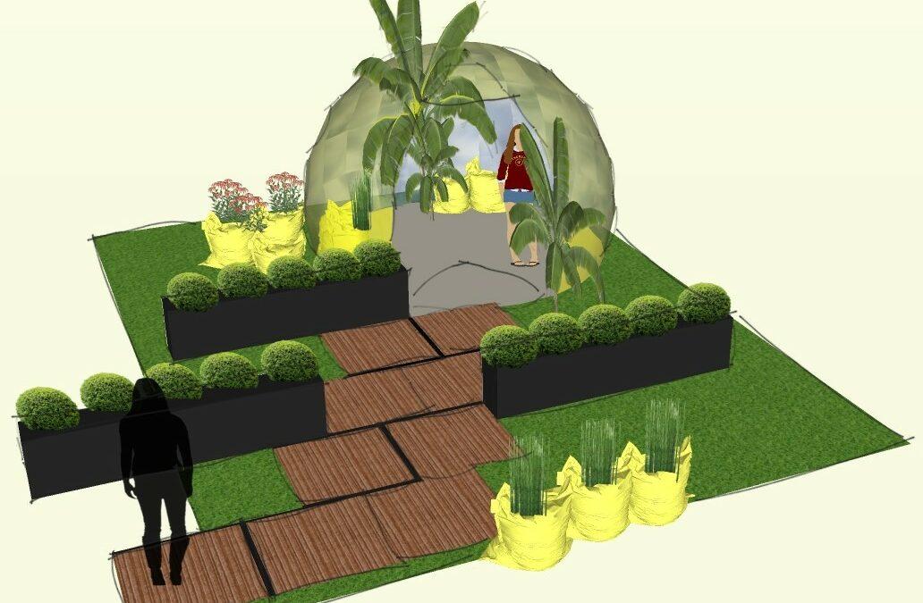 Projet Jardin Artistique à Quiberon : Fantaisie Brutalistique